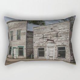 Main Street False Fronts, Kathryn, North Dakota Rectangular Pillow