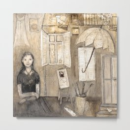 paints her world Metal Print