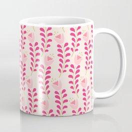 Spring flower pattern in pastel pink color palette Coffee Mug