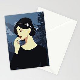 Girl Retro Style 06 Stationery Cards