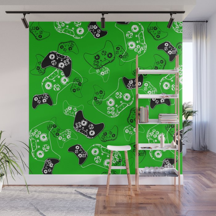 Video Game Green Wall Mural