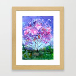 April Tree Framed Art Print