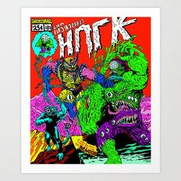MONSTER FIGHT Art Print