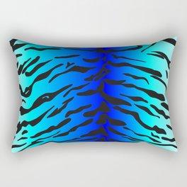 Tiger Print Teal & Blue Rectangular Pillow