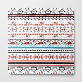 Ugly Christmas Floral Pattern Metal Print