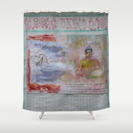 Buddha Collage - JUSTART (c) Shower Curtain