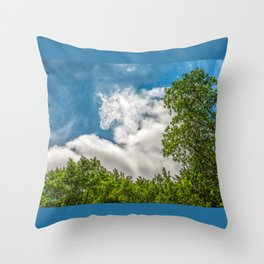 Rider in the sky Throw Pillow