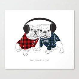 Two in a Pod Canvas Print
