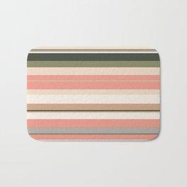 minimalistic horizontal stripes pattern cl Bath Mat
