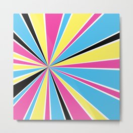 CMYK Star Burst Metal Print