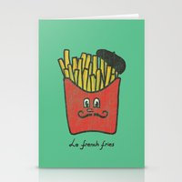 french fries Stationery Cards featuring French Fries by Picomodi