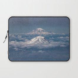 Mount Adams Mt Rainier - PNW Mountains Laptop Sleeve