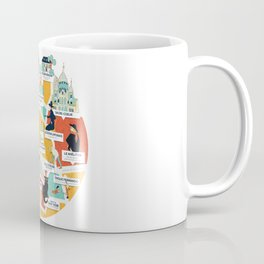 Montmartre Illustrated Map Coffee Mug