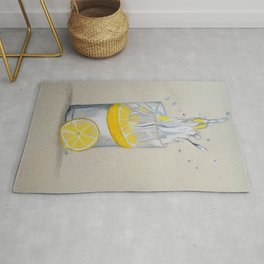 Lemon in water Rug