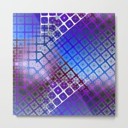 Place 2B Pattern (Nightclub Ultrablue) Metal Print