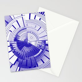 Futuristic abstract Stationery Cards