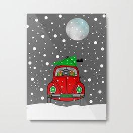 Santa Lane - Merry Christmas Metal Print