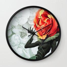 Alice in Wonderland Rose Wall Clock