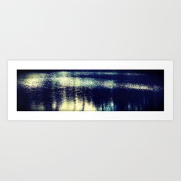 reflection on the water, Richmond, Virginia Art Print