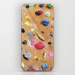 Wooden boulders climbing gym bouldering photography iPhone Skin