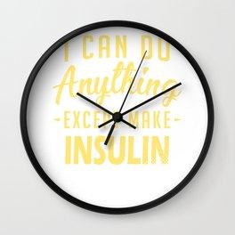 Diabetic Type 1 2 Diabetes T1D Insulin Wall Clock