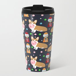 Corgi welsh corgis gumball bubblegum cute dog breed corgis pet gifts Metal Travel Mug