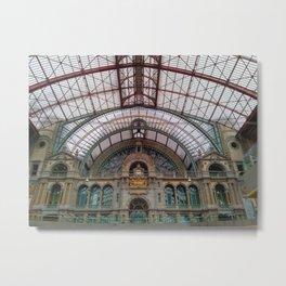 Antwerp Central Train Station Metal Print