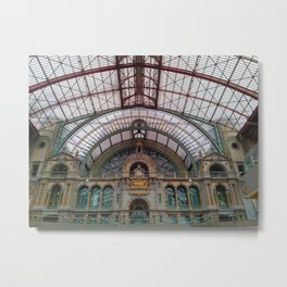 Antwerp Central Train Station Metal Print