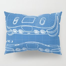 N64 Nintendo Patent - N64 Console Art - Blueprint Pillow Sham
