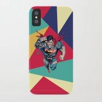 superman iPhone & iPod Cases featuring Superman by Mari Vasilescu