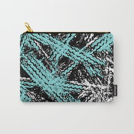 Desert Tracks Teal Carry-All Pouch