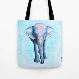 Painted Asian Elephant Tote Bag