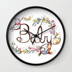 Hello Baby Wall Clock