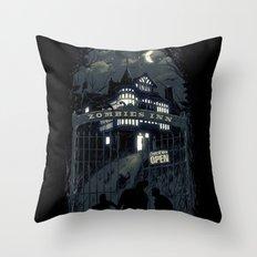 Zombies Inn Throw Pillow