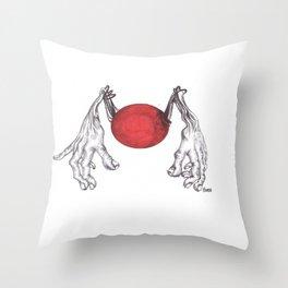 Hand Ball Throw Pillow