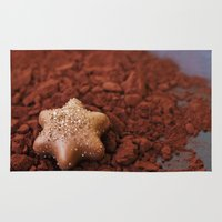chocolate Area & Throw Rugs featuring Chocolate by LebensART Photography