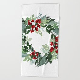 Holly Berry Beach Towel