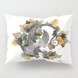 Dragon in Leaves Pillow Sham