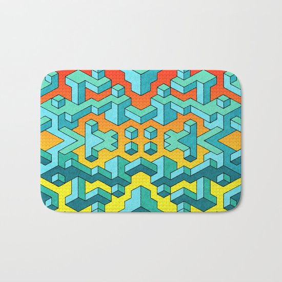 Miles and Miles of Squares Bath Mat