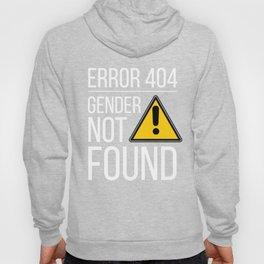 Error 404 Gender Not Found Nonbinary Flag Agender LBGT Trans Inclusive Queer Transformation Hoody