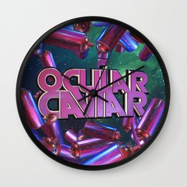 Ocular Caviar Logo Sting Wall Clock