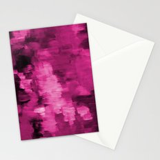 Paint 4 abstract minimal modern art painting canvas affordable art passion pink urban decor Stationery Cards