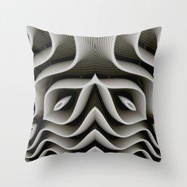 Exo-skelton 3D Optical Illusion Throw Pillow