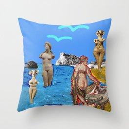 Aphrodites throughout times Throw Pillow