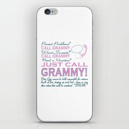 Just call Grammy iPhone Skin