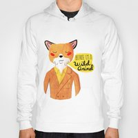 movie Hoodies featuring Because I'm a Wild Animal by Nan Lawson