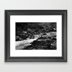 River, Snowdonia, Wales. Framed Art Print