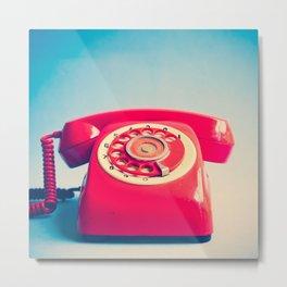 Dr. Strangelove (Vintage Red Telephone) Metal Print