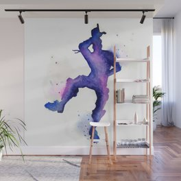 Take the L Watercolor Silhouette Wall Mural