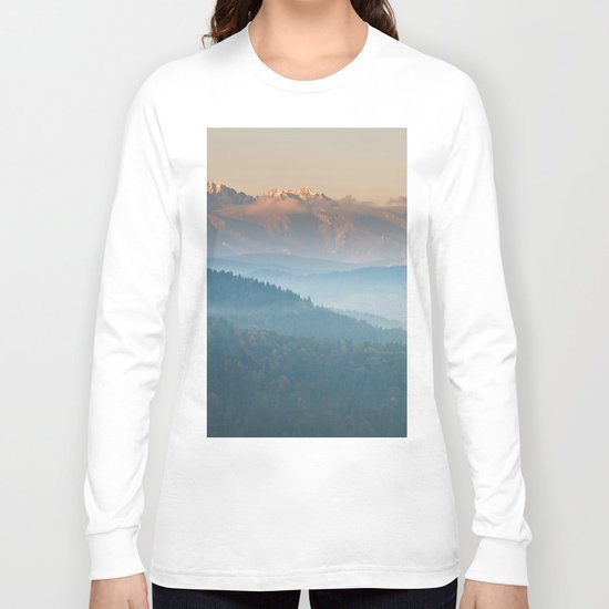The mountains are calling #sunset Long Sleeve T-shirt